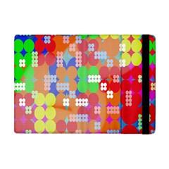 Abstract Polka Dot Pattern Apple iPad Mini Flip Case