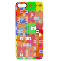 Abstract Polka Dot Pattern Apple iPhone 5 Hardshell Case with Stand