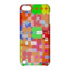 Abstract Polka Dot Pattern Apple Ipod Touch 5 Hardshell Case With Stand