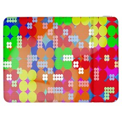 Abstract Polka Dot Pattern Samsung Galaxy Tab 7  P1000 Flip Case