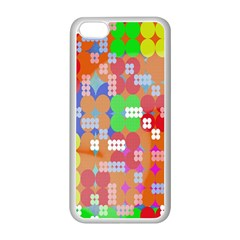 Abstract Polka Dot Pattern Apple iPhone 5C Seamless Case (White)