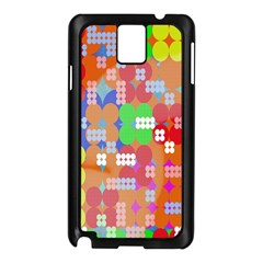 Abstract Polka Dot Pattern Samsung Galaxy Note 3 N9005 Case (Black)