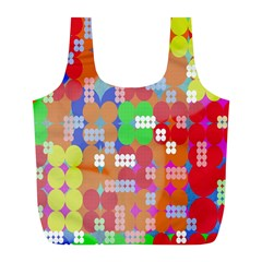 Abstract Polka Dot Pattern Full Print Recycle Bags (l)