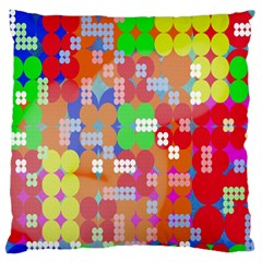 Abstract Polka Dot Pattern Large Flano Cushion Case (one Side)