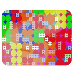 Abstract Polka Dot Pattern Double Sided Flano Blanket (medium)