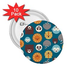 Animal Pattern 2.25  Buttons (10 pack)