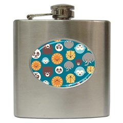 Animal Pattern Hip Flask (6 oz)
