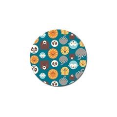 Animal Pattern Golf Ball Marker (4 pack)