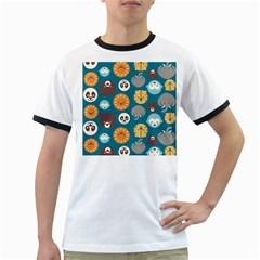 Animal Pattern Ringer T-Shirts