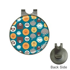 Animal Pattern Hat Clips With Golf Markers