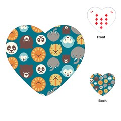 Animal Pattern Playing Cards (Heart)