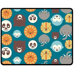 Animal Pattern Fleece Blanket (Medium)