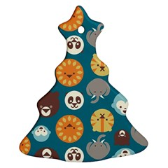 Animal Pattern Christmas Tree Ornament (Two Sides)