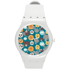 Animal Pattern Round Plastic Sport Watch (m)