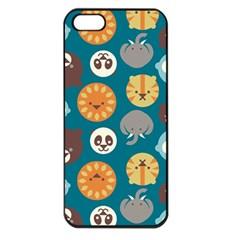 Animal Pattern Apple iPhone 5 Seamless Case (Black)