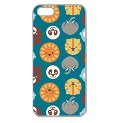 Animal Pattern Apple Seamless iPhone 5 Case (Clear)