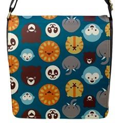 Animal Pattern Flap Messenger Bag (S)