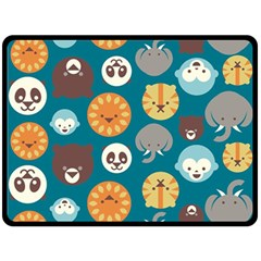 Animal Pattern Double Sided Fleece Blanket (Large)