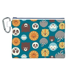 Animal Pattern Canvas Cosmetic Bag (L)