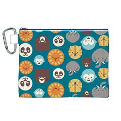 Animal Pattern Canvas Cosmetic Bag (xl)