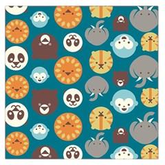 Animal Pattern Large Satin Scarf (Square)