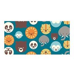 Animal Pattern Satin Wrap