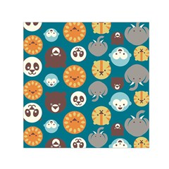 Animal Pattern Small Satin Scarf (Square)