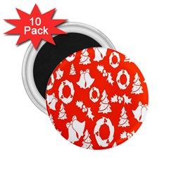 Backdrop Background Card Christmas 2.25  Magnets (10 pack)