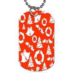Backdrop Background Card Christmas Dog Tag (Two Sides)