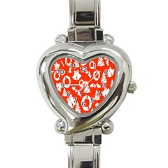 Backdrop Background Card Christmas Heart Italian Charm Watch