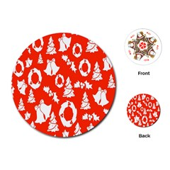 Backdrop Background Card Christmas Playing Cards (Round)