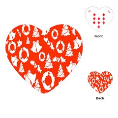 Backdrop Background Card Christmas Playing Cards (Heart)
