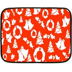 Backdrop Background Card Christmas Fleece Blanket (Mini)