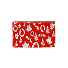 Backdrop Background Card Christmas Cosmetic Bag (Small)