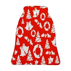 Backdrop Background Card Christmas Bell Ornament (Two Sides)