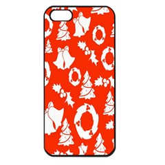 Backdrop Background Card Christmas Apple iPhone 5 Seamless Case (Black)