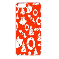 Backdrop Background Card Christmas Apple Iphone 5 Seamless Case (white)