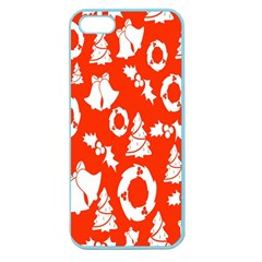 Backdrop Background Card Christmas Apple Seamless iPhone 5 Case (Color)