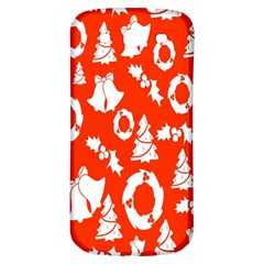 Backdrop Background Card Christmas Samsung Galaxy S3 S III Classic Hardshell Back Case