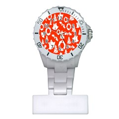 Backdrop Background Card Christmas Plastic Nurses Watch