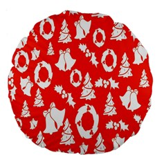 Backdrop Background Card Christmas Large 18  Premium Flano Round Cushions