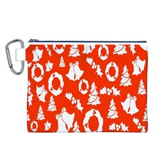 Backdrop Background Card Christmas Canvas Cosmetic Bag (L)