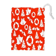 Backdrop Background Card Christmas Drawstring Pouches (Extra Large)