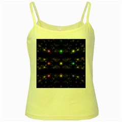 Abstract Sphere Box Space Hyper Yellow Spaghetti Tank