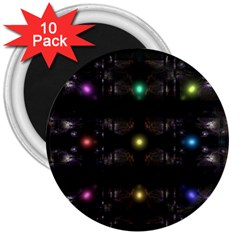 Abstract Sphere Box Space Hyper 3  Magnets (10 pack)