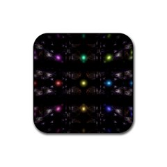 Abstract Sphere Box Space Hyper Rubber Square Coaster (4 pack)