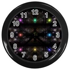 Abstract Sphere Box Space Hyper Wall Clocks (Black)