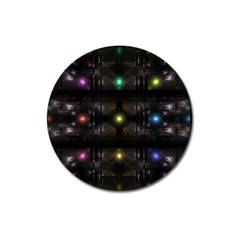 Abstract Sphere Box Space Hyper Magnet 3  (round)