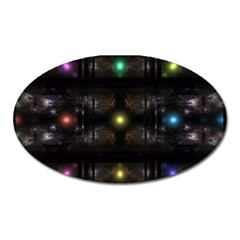 Abstract Sphere Box Space Hyper Oval Magnet