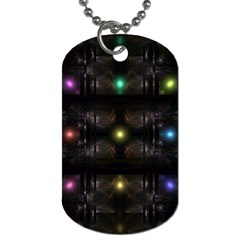 Abstract Sphere Box Space Hyper Dog Tag (One Side)